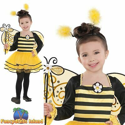 0fa374919 CHILD BALLERINA BUMBLE Bee Costume Insect Bugs Girls Fancy Dress ...