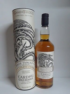 Game Of Thrones House Targaryen Cardhu Gold Reserve Limited Edition Scotch NEW!