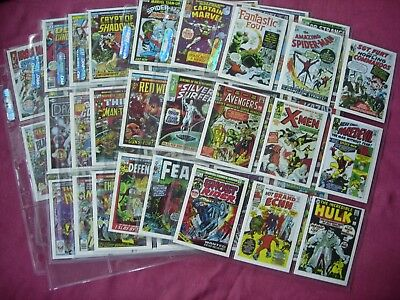 Marvel Superheroes First Issue Covers Series 1 1984 X60 complete set FTCC VFN