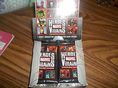 Marvel Heroes & Villains Open Box 24 Sealed Packs Hard to Find