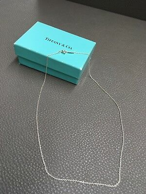 "Tiffany & Co Sterling Silver Chain Necklace 16"" Authentic!"