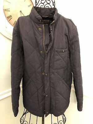 J.Crew Men's Sussex Quilted Jacket Coat Navy Blue Outerwear Thermore Size Medium