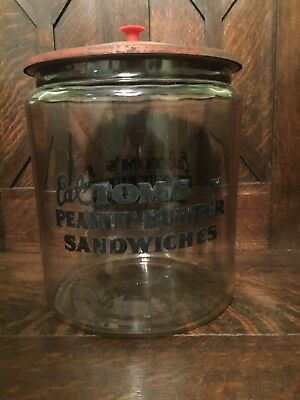 Vintage Tom's Peanut Jar