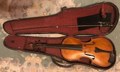 Rare Antique 4/4 Violin John M Brigham Walla Walla circa 1908 for Restoration