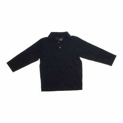 The Children's Place Boys Long Sleeve Polo Shirt, size 4/4T,  black,  cotton