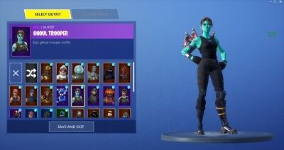 Fortnite Random Accounts (10 Ghoul Trooper Accounts and 1 Recon Expert)