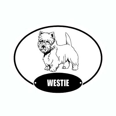 West Highland Terrier Westie Euro Vinyl Dog Car Decal Sticker