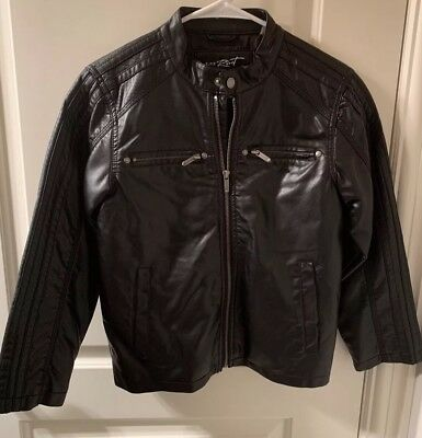 Preowned Boys Faux Leather Jacket, Medium
