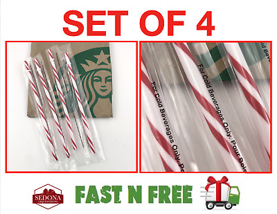 LOT of 41 - Starbucks Candy Cane Reusable Straws Holiday 2018 **NEW & SEALED **