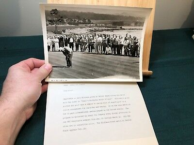 Vintage Jack Nicklaus At Pebble Beach Match With Sam Snead Beach  Shell Oil Co
