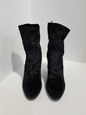 F21 Forever 21 Women/'s Ankle-Boots Black//Gold Youth Size 8 M