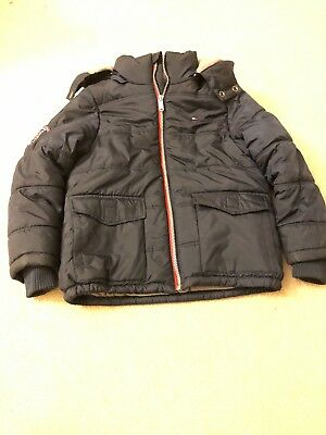 Tommy Hilfiger Kids Boy Navy Wither Coat Fleeced Lined Puffer Size 8 Pre-owned