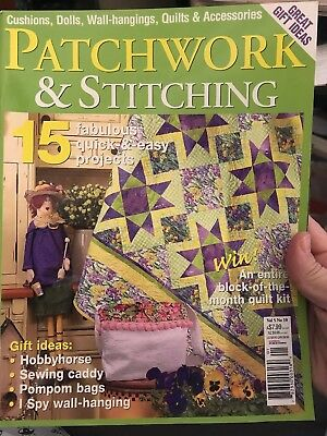 PATCHWORK & STITCHING magazine vol.5 no.10 -  with patterns for 15 projects