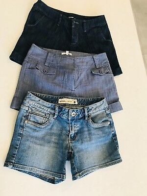 Denim bundle! 3 pairs of cute summer shorts SZ 8. Just Jeans, Valley girl