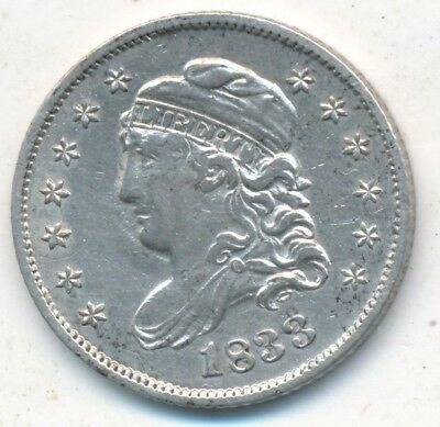 1833 Capped Bust Silver Half Dime-Nice Gently Circulated Half Dime-Free S/h-Inv2