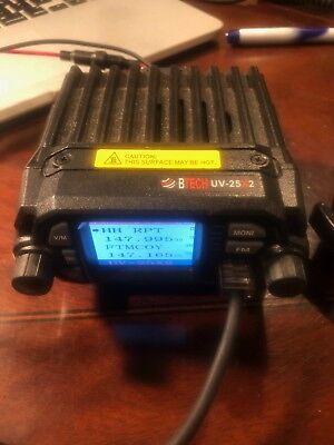 BTECH Mini UV-25X2 25 Watt Dual Band Mobile Base Radio VHFUHFAmateur used