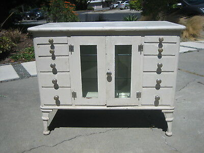 vintage medical Cabinet 1920's industrial dental apothecary steampunk steel