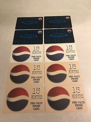 Lot Of 10 Vintage Pepsi Pre Paid 15 Minutes Phone Cards