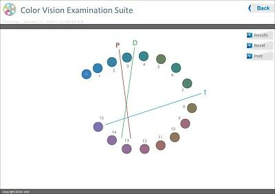 D-15 Color Vision Software, includes color plates!   START BILLING 92283 !!!