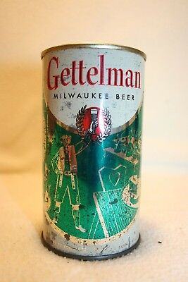 Gettelman Beer 12 oz flat top beer can - A. Gettelman Brewing Co. Milwaukee, WI