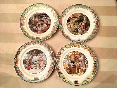 "Set of 4 VILLEROY & BOCH Foxwood Tales 8 1/4"" SALAD PLATE."