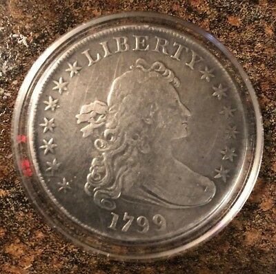 1799 Draped Bust Dollar, Highly Desired Early Date Silver Dollar, Collector Coin