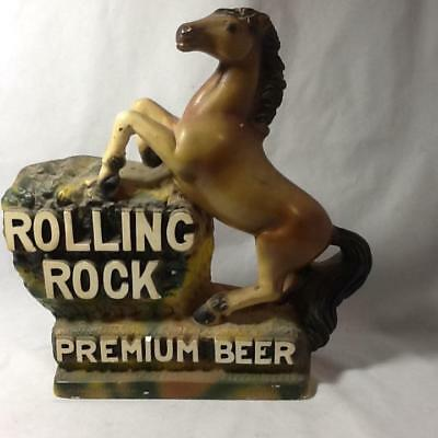 Vtg FIGURAL Advertising Rolling Rock Premium Beer Statue Horse Latrose Pa Chalk
