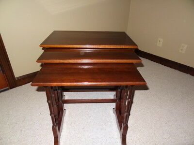 Ethan Allen Nesting Table Set of 3 Georgian Court Cherry Collection