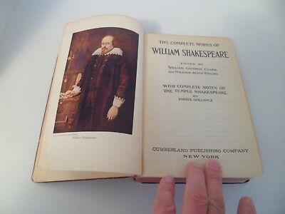The Works Of William Shakespeare Complete In One Volume Hardcover W
