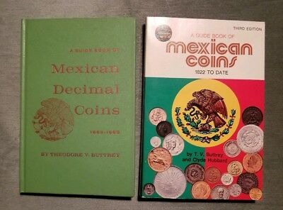 Lot 2 Guide Books of Mexican Coins 1822 to Date by Buttrey 1st & 3rd Editions!