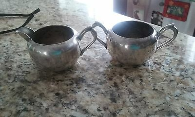 Vintage F.B. Rogers Silverplated Creamer and Sugar Bowl, 1087