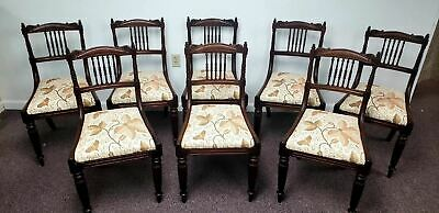 Antique 19th Century Regency Mahogany Dinging Chairs Set of 8