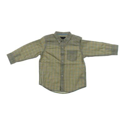 The Children's Place Boys Button-up Shirt, size 4/4T,  brown,  cotton