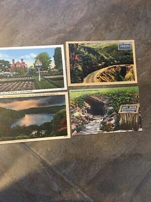 vintage Virginia postcards lot Of 4-George Washington's birthplace and more !!