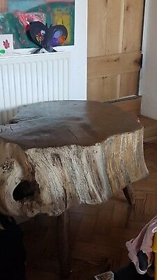 Vintage Welsh or English Oak TREE ROOT COFFEE or SIDE TABLE Rustic HEAVY Rare!