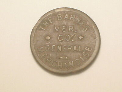 Barnes, (KS) 1¢ Maverick Token - The Barnes Mer. Co. General Merchandise (1911)