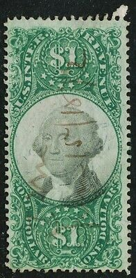 Dr Jim Stamps Us Scott R144 $1 Documentary Used No Reserve Free Shipping