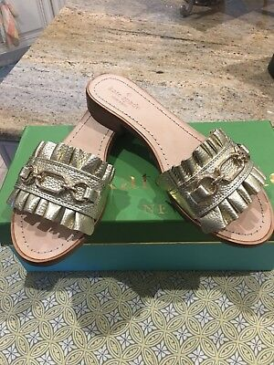 7c15f8cf79c Kate Spade New York Women s Beau Slide Sandal - Gold Size 8 NWB