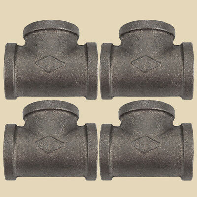 """1"""" Side Outlet TEE BLACK MALLEABLE IRON fitting pipe npt-Lot of 4"""