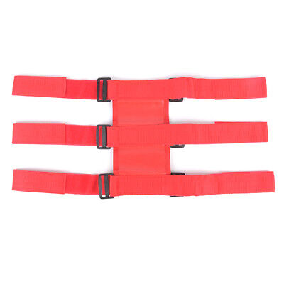 Red car roll bar fire extinguisher fixed holder car interior safety nylon stra X
