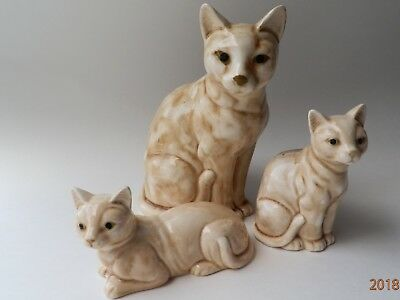 "Vintage LOT SET OF 3 CATS KITTENS ORIGINAL TAG "" NORLEANS JAPAN"" PORCELAIN"