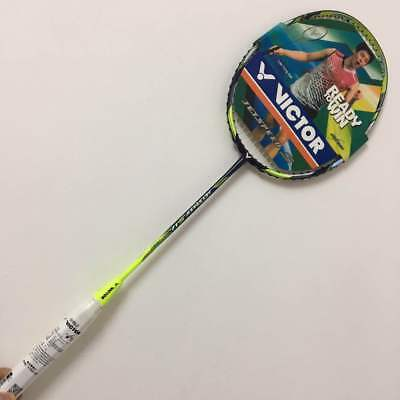Victor Badminton racket jetspeed  S12 with string strung and an overgrip rackets