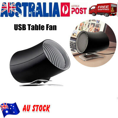 Portable USB Cooling Rotatable Desk Fan MINI Ultra Quiet Touch Control Summer