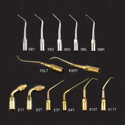 13 Types Dental Ultrasonic Scaler Cavity Perio Tips Fit EMS/WOODPECKER Handpiece