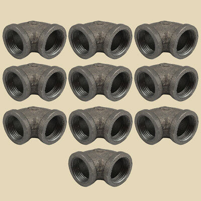 "1"" BLACK MALLEABLE IRON FLOOR FLANGE fitting pipe npt- LOT OF 10"