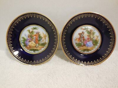 Two Limoges Miniature Plates