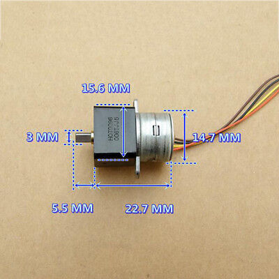 Micro 15MM Full Metal Gear Stepper Motor 2-phase 4-wire Precision Gearbox Robot