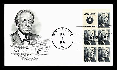 Dr Jim Stamps Us Frank Lloyd Wright First Day Cover Booklet Pane Buffalo