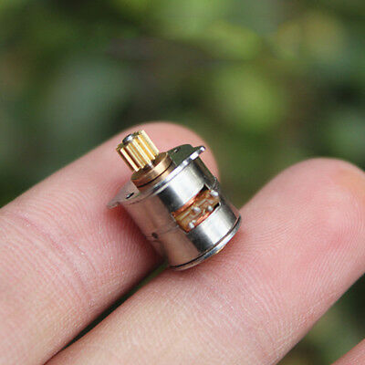 2-Phase 4-Wire Stepper Motor Micro Mini 10MM Stepping Motor Metal Copper Gear