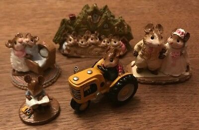 Lot of 5 Wee Forest Folk - Retired Collection with WFF Boxes:WFF-1 M-133 M-67